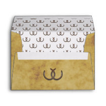Rustic Horseshoes Distressed BG A7 5x7 Envelope