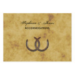 Rustic Horseshoes Distressed BG Accommodations Large Business Card