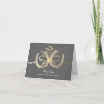 Rustic Horseshoes Gold Country Wedding Thank You