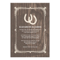 Rustic Horseshoes Wedding Invitations Personalized Announcement