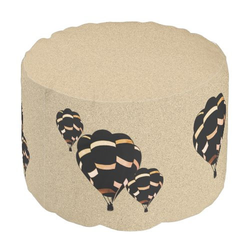 Rustic Hot Air Balloons Pouf
