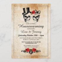Rustic Housewarming Rose Skulls Invite Halloween