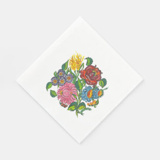 Rustic Hungarian flowers Standard Luncheon Napkin