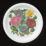 Rustic Hungarian flowers  Paper Plate