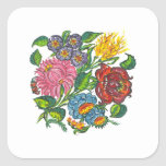 Rustic Hungarian flowers    Square Sticker