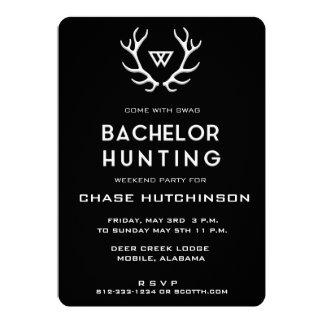 Rustic Hunting Bachelor Invitation