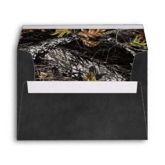 Rustic Hunting Camo Chalkboard Country Wedding Envelope