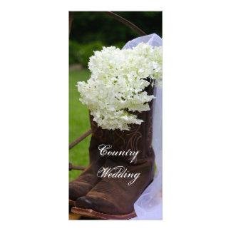 Rustic Hydrangea and Cowboy Boots Wedding Program