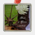 Rustic Hydrangea Country Wedding Ornament