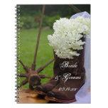 Rustic Hydrangea Country Wedding Spiral Notebook