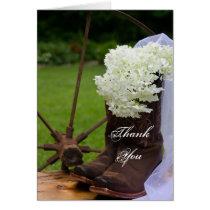 Rustic Hydrangea Cowboy Boots Bridesmaid Thank You
