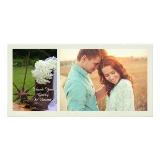 Rustic Hydrangea Cowboy Boots Wedding Thank You Card