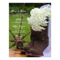 Rustic Hydrangea Cowboy Boots Western Wedding Menu