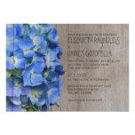 Rustic Hydrangea Wedding Invitations Cards