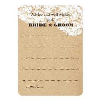 Rustic Hydrangeas Floral Wedding Advice Card