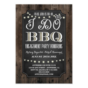 bbq engagement party invitations zazzle