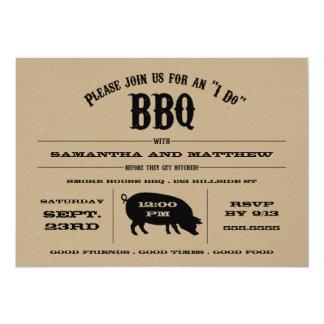 "Rustic ""I Do"" BBQ Rehearsal Dinner Invite"