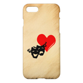 Rustic I Heart Theater iPhone 7 Case