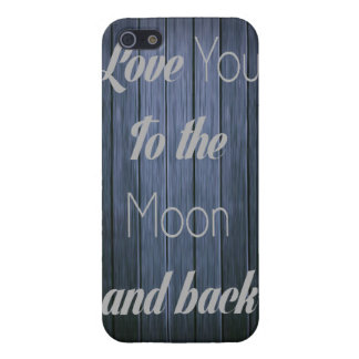 Rustic I love you to the moon and back iphone case