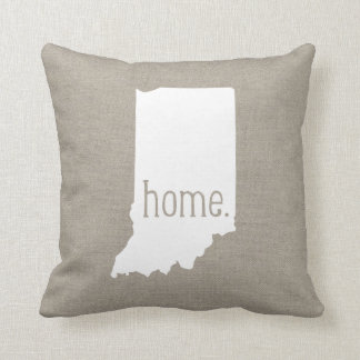Rustic Indiana Home State Throw Pillow