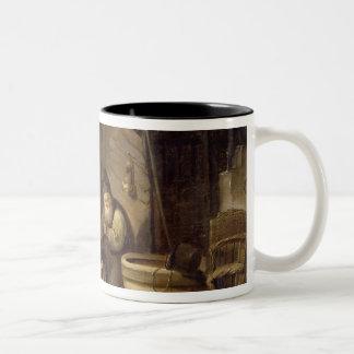 Rustic Interior Two-Tone Coffee Mug