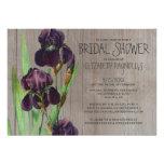 Rustic Iris Bridal Shower Invitations Custom Announcement