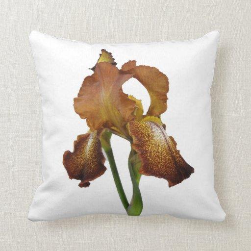 Rustic Iris Throw Pillows