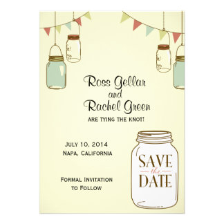 Rustic Jars Save-the-date Personalized Invite