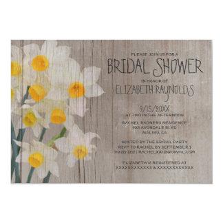 Rustic Jonquil Bridal Shower Invitations