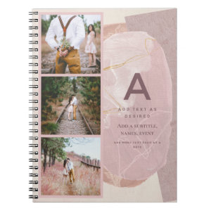 Rustic Journal Gift Personalized Abstract Chic