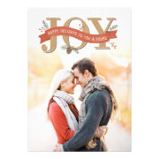Rustic Joy Holiday Photo Card