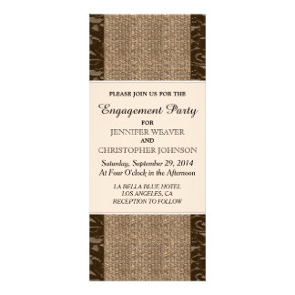 Rustic Jute & Black Lace Design Card