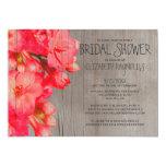 "Rustic Kalanchoe Bridal Shower Invitations 5"" X 7"" Invitation Card"