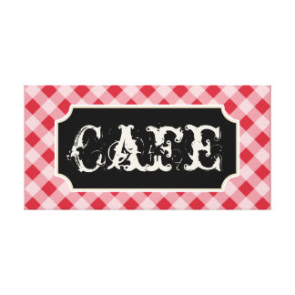 Rustic Kitchen Cafe Sign Canvas