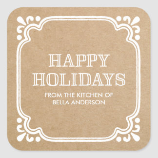 Rustic Kitchen | Holiday Baked Goods Stickers