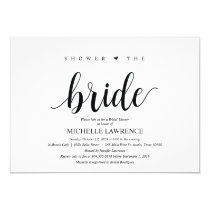 Rustic Kraft Bridal shower Invitation cards