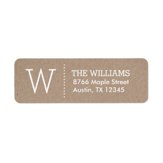Rustic Kraft Custom Monogram Label