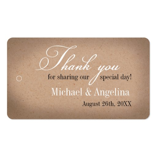 Rustic Kraft Design 100/pk DIY Wedding Favor Tags Business Cards