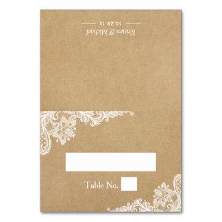 Rustic Kraft Elegant White Lace Wedding Place Card