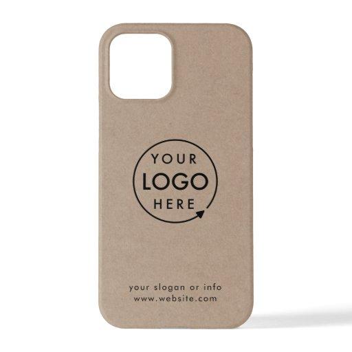 Rustic Kraft Logo | Business Corporate Modern iPhone 12 Pro Case