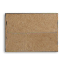 Rustic Kraft Paper Background Style Envelope