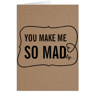 Rustic Kraft Paper Funny Valentines Day Card