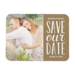 Rustic Kraft Paper | Photo Save the Date Magnets