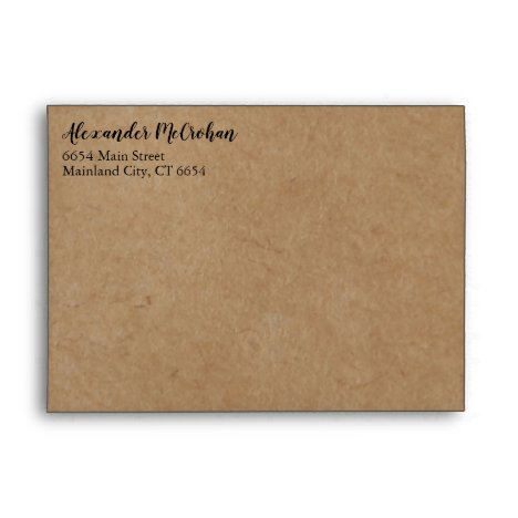 Rustic Kraft Paper Return Address Mailing Envelope
