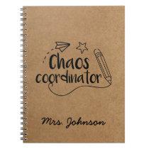 Rustic Kraft | Personalized Teacher Notebook