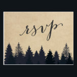 "Rustic Kraft Pine Trees Forest RSVP Response Postcard<br><div class=""desc"">================= ABOUT THIS DESIGN ================= 
