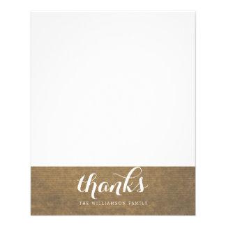 "Rustic Kraft Print - Thanks Thanksgiving Family 4.5"" X 5.6"" Flyer"