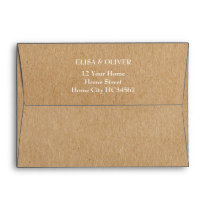 Rustic Kraft Return Address Envelope