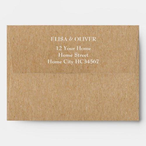 Rustic Kraft Return Address Envelope