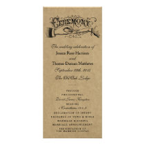 Rustic Kraft Wedding Ceremony Program Templates